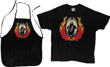 Biker Billy Aprons and T-Shirts