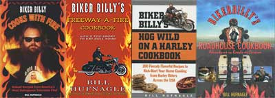 Biker Billy Print Cookbooks